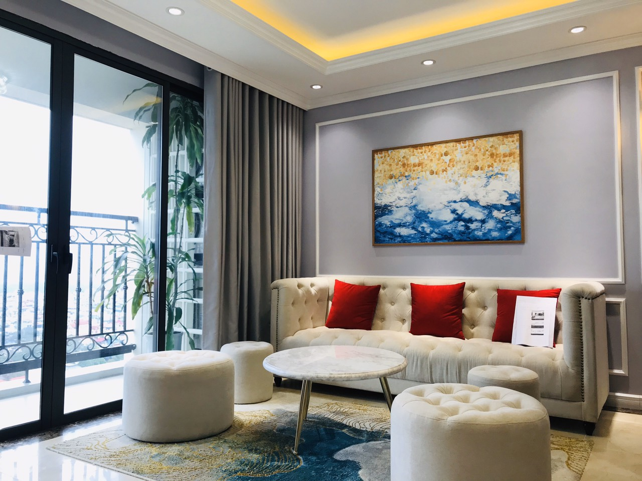 Royal style apartment with Red River view in D'. Le Roi Soleil West Lake