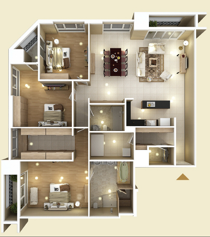 Design of Apartment type D